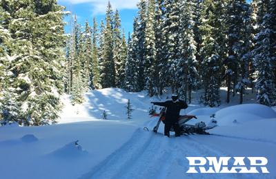 timbersledding deep woods