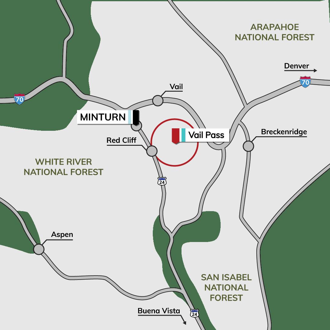 Vail Colorado Map