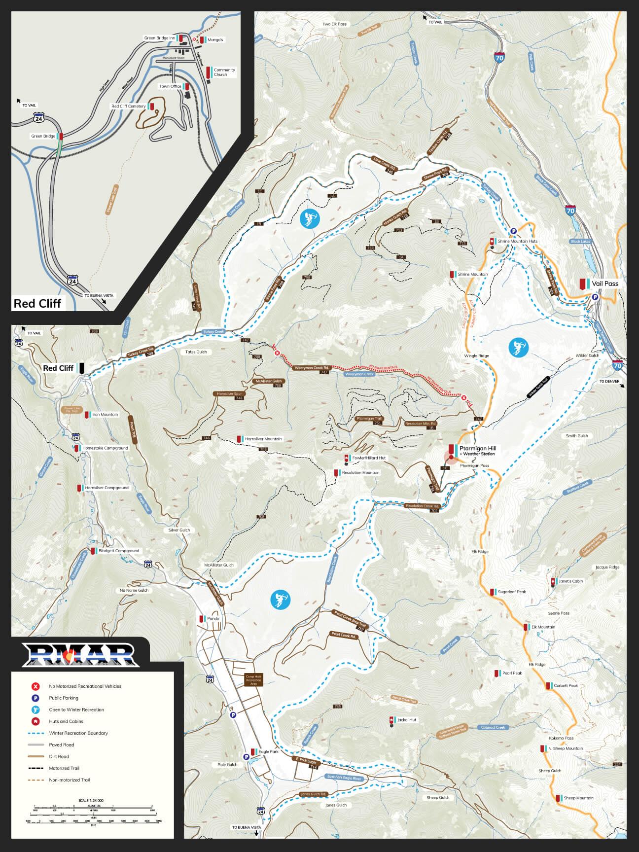 Vail Pass Map
